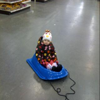1st sled...